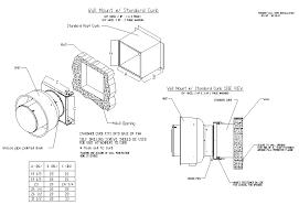 exhaust fan through wall mount