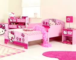 hello kitty bed furniture. hello kitty kids bedroom design ideas pink wood bed polca dot linen furniture