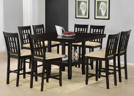 9 piece counter height gathering table w wine rack dining set by from dining room table with wine rack source wolffurniture com