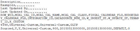 Loading Custom Calendars Using The Universal Adaptor | Oracle Bi ...