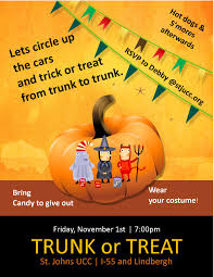 or treat flyer templates  trunk or treat flyer templates 1
