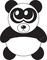 大きな目でベクトル イラスト漫画かわいいパンダ ストックベクター
