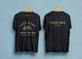 mockup t shirt free black white half sleeves t shirt mockup psd front back