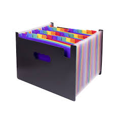 Us 25 17 24 Off 48 Pocket Expanding For Files Folder Plastic Rainbows Files Organizers A4 Letter Size For Portable Documents Holder Wallet Files In