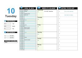 Hour Weekly Calendar Template Day Planner Best Ideas On 24