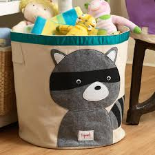 3 Sprouts Raccoon Canvas Toy Storage Bin ...