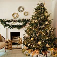 Silver And Gold Christmas Tree Decorations 1000 Images About Christmas Tree  Gold Ribbon On Pinterest
