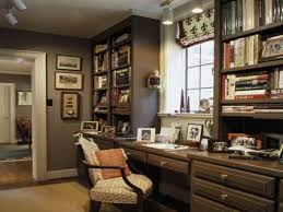 Masculine Office Home Decorating Ideas Gray Decor Transitional