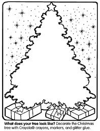 Christmas Tree Coloring Page Crayolacom