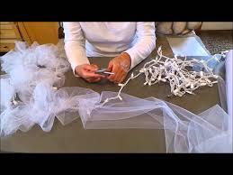 Tulle Fabric Wedding Decorations Diy Light Tulle Garland Youtube