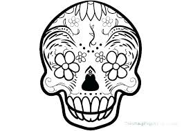 Printable Skull Coloring Pages Sugar Skulls Coloring Pages Skull