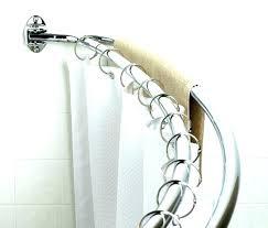dual curved shower curtain rod double glacier bay chrome