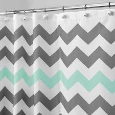 Pink And Teal Chevron Shower Curtain