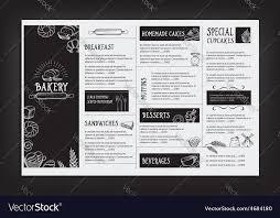Restaurant Cafe Menu Template Design Food Flyer Vector Image On Vectorstock