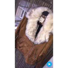 river island suede fur jacket