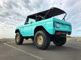 1970 Ford Bronco Casually Sitting On Military Grade Hummer H1 Wheels Shows Up On Craigslist Ford Bronco Hummer Bronco