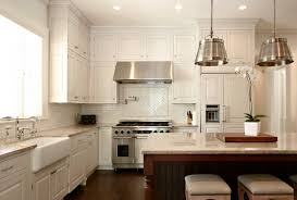 White Cabinets And Backsplash Collection