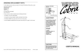 weider cobra 1000 user manual pdf