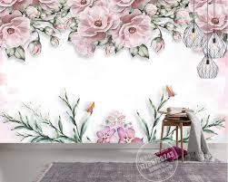 Us 1682 49 Offmoderne Korte 3d Muurschildering Behang Elegante Bloem Muurschildering Vliesbehang Keuken Behang Roze Behang Voor Muren 3 D In