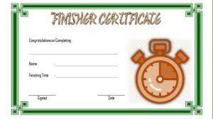 Fun Run Certificate Template Finisher Certificate Templates Free 7 Best Choices In 2019