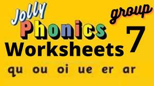 Split into 7 groups, the worksheets contain all 42 letter sounds. Jolly Phonics Group 7 Worksheets Sounding Blending Reading For Ukg Lkg Preschool Grade 1 Youtube