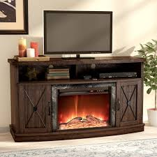 schuyler 54 tv stand with fireplace