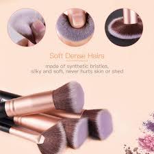 makeup brushes bestope makeup brush set professional 16 piece make up brushes premium synthetic foundation brush blending face powder blush concealers eye