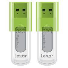 <b>Lexar JumpDrive S50 32 GB</b> USB Flash Drive 2-Pack - Bulk Packaged