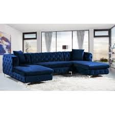 blue velvet sectional. Simple Sectional Quickview To Blue Velvet Sectional U