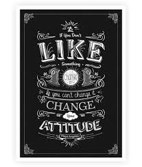 Lab No 4 If You Cant Change It Change Your Attitude Maya Angelou Inspirational Quotes Typography Print Poster