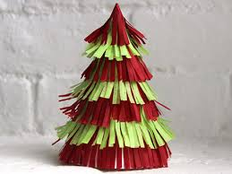 Paper Crafts For Christmas How To Make A Fringed Christmas Tree Centerpiece How Tos Diy