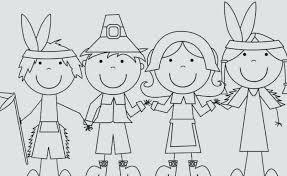 Download Free Thanksgiving Indian Coloring Pages Printable