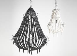 boho black beaded chandelier