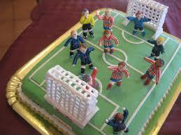 Il paradiso delle torte: torte con calciatori di pasta di zucchero