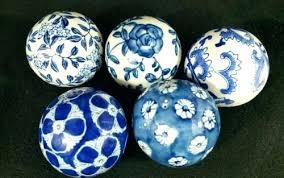 Decorative Ceramic Balls Sale Simple Decorative Ceramic Balls Decorative Ceramic Balls In Tray Set Of 32
