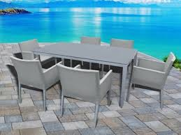 aluminum dining sets patio furniture. outdoor patio furniture new aluminum gray frosted glass 7-piece rectangular dining table \u0026 sling sets