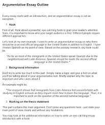 arumentative essay argumentative essay examples with format and outline at