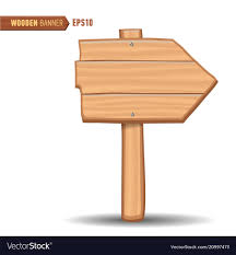 Signboard Template Wooden Signboards Wood Arrow Sign Royalty Free Vector Image