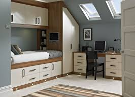 Fitted Bedroom Furniture For Small Bedrooms Esprit Cream And Walnut Finish Betta Living Dream Bedroom