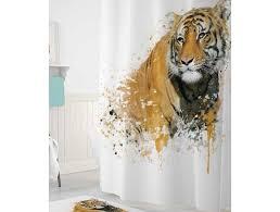 <b>Tropikhome Шторы для ванн</b> полиэстер Digital Printed Tiger ...