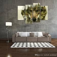 >wolf canvas prints wall art picture for home decor wolf pine trees  wolf canvas prints wall art picture for home decor wolf pine trees forest animal paintings print modern artwork with wooden framed canvas wall art wall