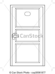 closed door drawing. Interesting Door Closed Door Front View  Csp30081877 To Closed Door Drawing