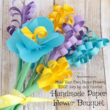 How To Make Paper Flower Bouquet Step By Step Handmade Paper Flower Bouquet