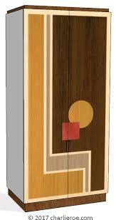 deco bedroom furniture. New Walter Dorwin Teague Art Deco Marquetry Veneered Cubist Geometric  Bedroom Wardrobes Deco Furniture