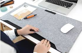 2016 new felt sleeve laptop desk mat fashion durable modern table felt office desk mat mouse pad pen holder in mouse pads from computer office on