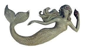 ufykdewl sl good mermaid wall decor