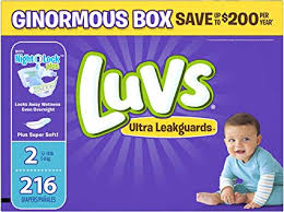 Luvs Ultra Leakguards Disposable Baby Diapers Size 2 216 Count Packaging May Vary