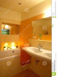 Orange Badezimmer Stockbild Bild Von Wohnsitz Elegant 4475897