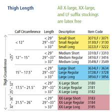 Ted Hose Size Chart 61 Thorough Knee High Ted Hose Size Chart
