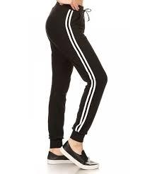 shosho joggers pockets bottoms stripes